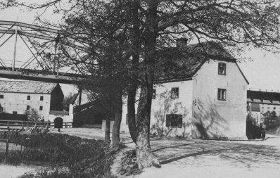 Danviken, Kvarndammen och mjölnargården vid Danviken 5 juni 1909
