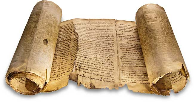 "Facsimile of a complete Dead Sea scroll, however not the Book of Enoch, but the ""Isaiah Scroll."""